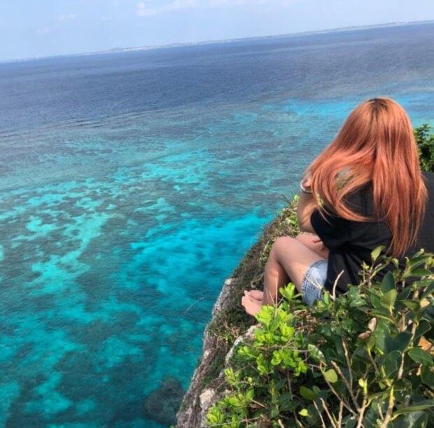 伊良部島の観光スポット「三角点」